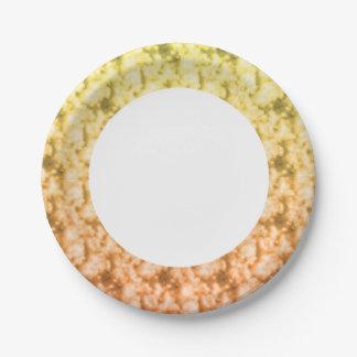 Nuages mous 3 assiettes en papier