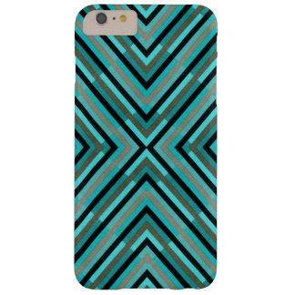 Nuances Checkered diagonales modernes de motif Coque iPhone 6 Plus Barely There