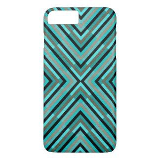 Nuances Checkered diagonales modernes de motif Coque iPhone 7 Plus