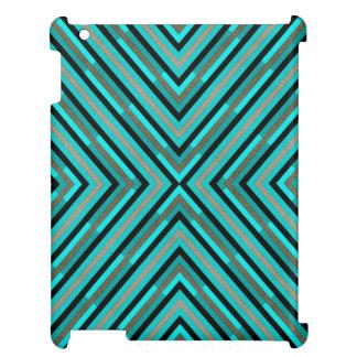 Nuances Checkered diagonales modernes de motif Étui iPad