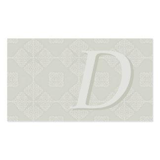 Nuances classiques décorées d un monogramme des ca modèle de carte de visite