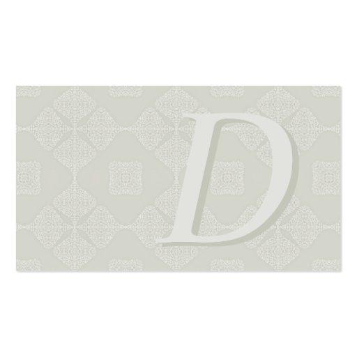 Nuances classiques décorées d'un monogramme des ca modèle de carte de visite