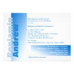 Nuances de barre bleue Mitzvah Invitations Personnalisables