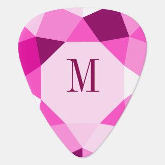 Nuances de dessin géométrique moderne rose onglet de guitare