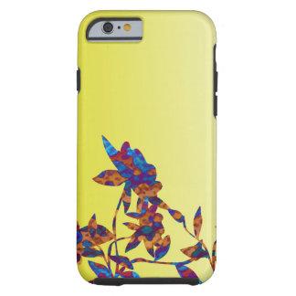 Nuances de joli coque iphone jaune de fleur coque iPhone 6 tough