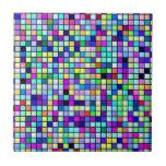 Nuances de motif multicolore de carrés de ressort carreaux en céramique