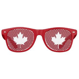 Nuances de partie de feuille d'érable du Canada Lunettes De Fête Retro