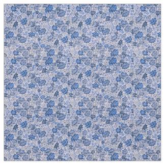 Nuances de tissu floral bleu