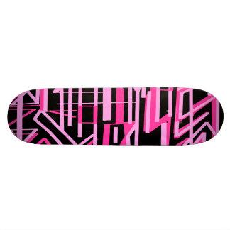 Nuances et lignes roses plate-forme de planche à skateboard customisable