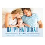 Nuances heureuses du carte photo | de Hanoukka de Invitation Personnalisable