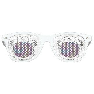 Nuances par radio de casque de drogué de lunettes de fête retro