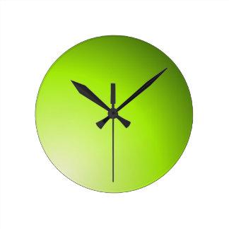 Nuances vertes de chaux horloge ronde