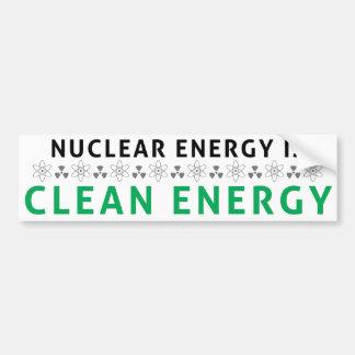 Nucléaire est l'énergie propre autocollant pour voiture