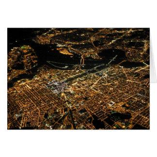 Nuit d'antenne de Washington DC Carte De Vœux