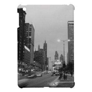 Nuit d'avenue de Chicago Michigan @ le 6 mars 1967 Étuis iPad Mini