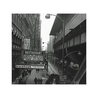 Nuit d'avenue de Chicago Michigan @ le 6 mars 1967 Toiles