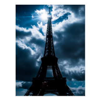 Nuit de bleu de Tour Eiffel Carte Postale