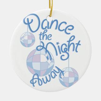 Nuit de danse partie ornement rond en céramique