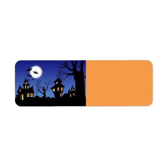 Nuit de Halloween Étiquette D'adresse Retour