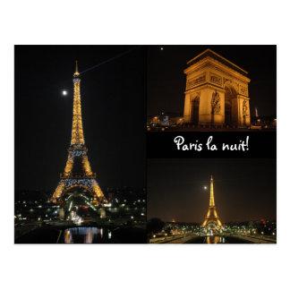 Nuit de La de Paris ! carte postale