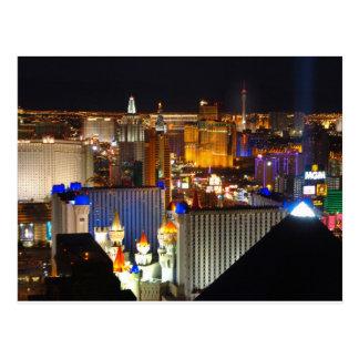 Nuit de Las Vegas Carte Postale