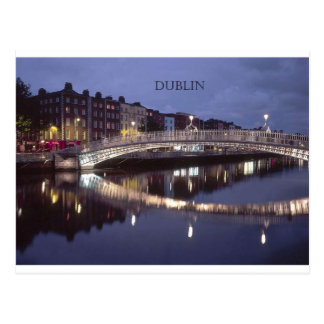 Nuit de pont de l'Irlande Dublin (St.K) Carte Postale