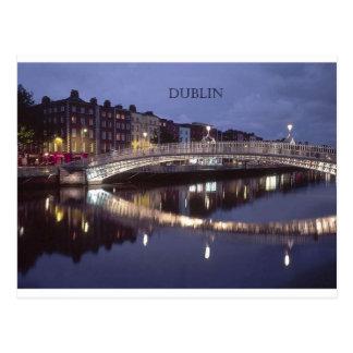 Nuit de pont de l'Irlande Dublin (St.K) Cartes Postales