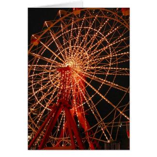 nuit de roue de ferris carte de vœux