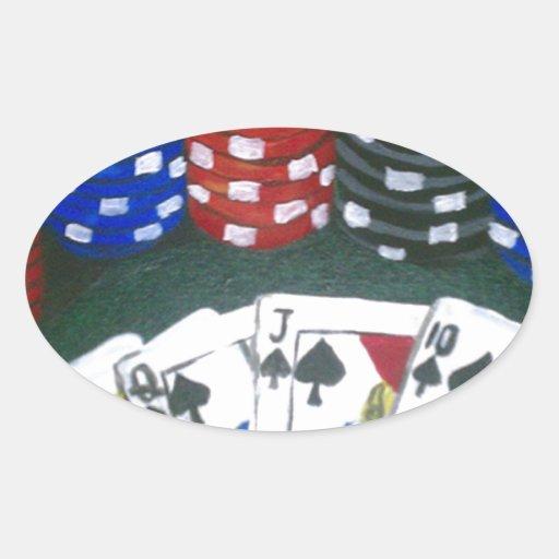 Nuit de tisonnier sticker ovale