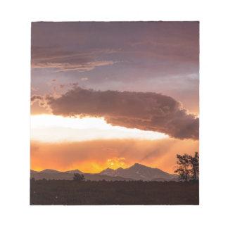 Nuit d'été colorée du Colorado Front Range Blocs Notes
