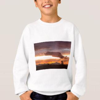 Nuit d'été colorée du Colorado Front Range Sweatshirt