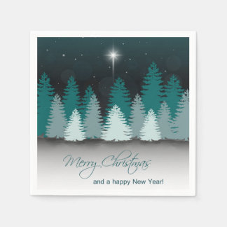 Nuit d'hiver avec l'étoile de Bethlehem - Serviettes Jetables