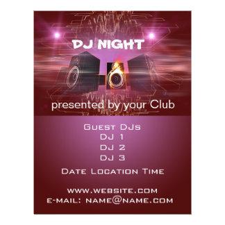Nuit du DJ Prospectus 21,6 Cm X 24,94 Cm