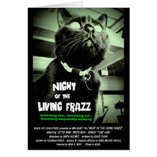"""Nuit du Frazz vivant !"" Carte de note de chat de"