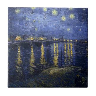 Nuit étoilée au-dessus de la tuile du Rhône Petit Carreau Carré