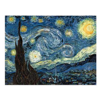 Nuit étoilée carte postale