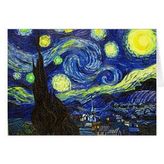 Nuit étoilée cartes de vœux