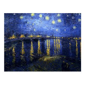 Nuit étoilée de Van Gogh au-dessus de la carte Carte Postale