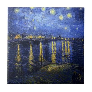 Nuit étoilée de Van Gogh au-dessus de la tuile du  Petit Carreau Carré
