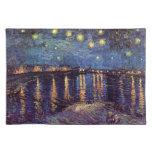 Nuit étoilée de Van Gogh au-dessus du Rhône, art Sets De Table