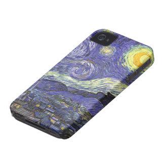 Nuit étoilée de Van Gogh, paysage vintage de Coque Case-Mate iPhone 4