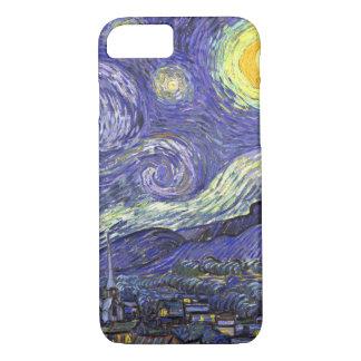 Nuit étoilée de Van Gogh, paysage vintage de Coque iPhone 7