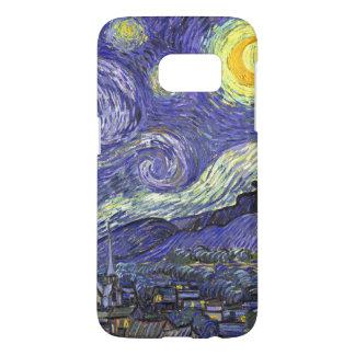 Nuit étoilée de Van Gogh, paysage vintage de Coque Samsung Galaxy S7