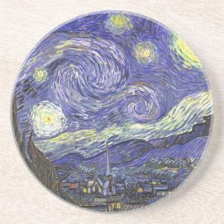 Nuit étoilée de Van Gogh, paysage vintage de Dessous De Verre