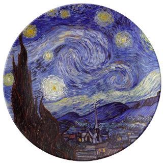 Nuit étoilée de Vincent van Gogh Assiettes En Porcelaine