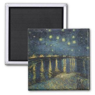 Nuit étoilée de Vincent van Gogh | au-dessus du Magnet Carré