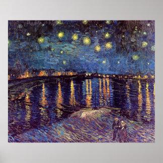 Nuit étoilée de Vincent van Gogh, post Poster