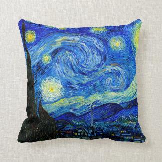 Nuit étoilée par le coussin de beaux-arts de Van