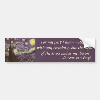 Nuit étoilée par Vincent van Gogh, beaux-arts Autocollant De Voiture