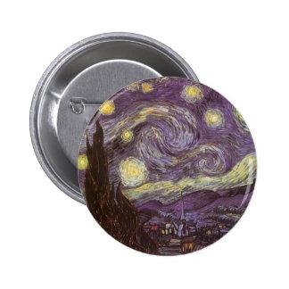 Nuit étoilée par Vincent van Gogh, beaux-arts Badge